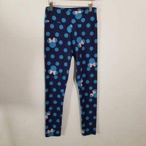 Lularoe Disney Minnie Mouse Leggings Blue One Size